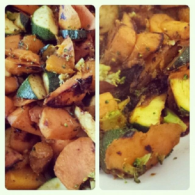 Savoury Photograph - #sweetpotato, #pumpkin, #broccoli And by Crystal Chloe