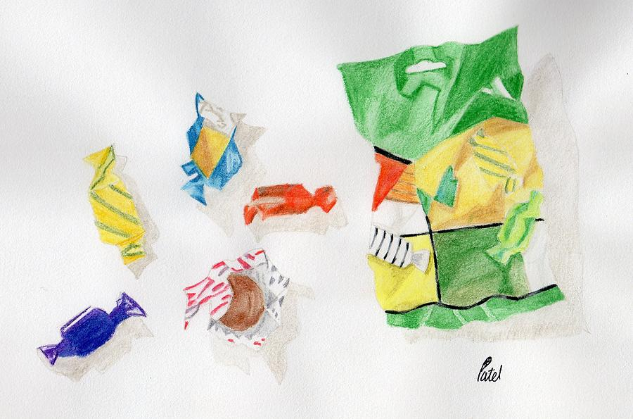 Sweets Drawing - Sweets by Bav Patel