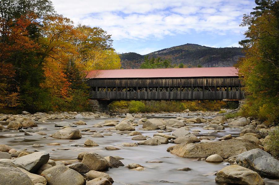 Autumn Photograph - Swift River Vista by Luke Moore