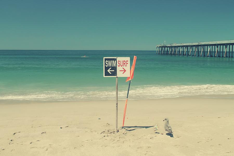 Hermosa Beach Photograph - Swim And Surf by Laurie Search