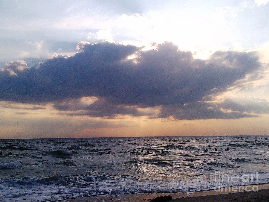 Cape Cod Photograph - Swim Before Storm by Patrick Mancini