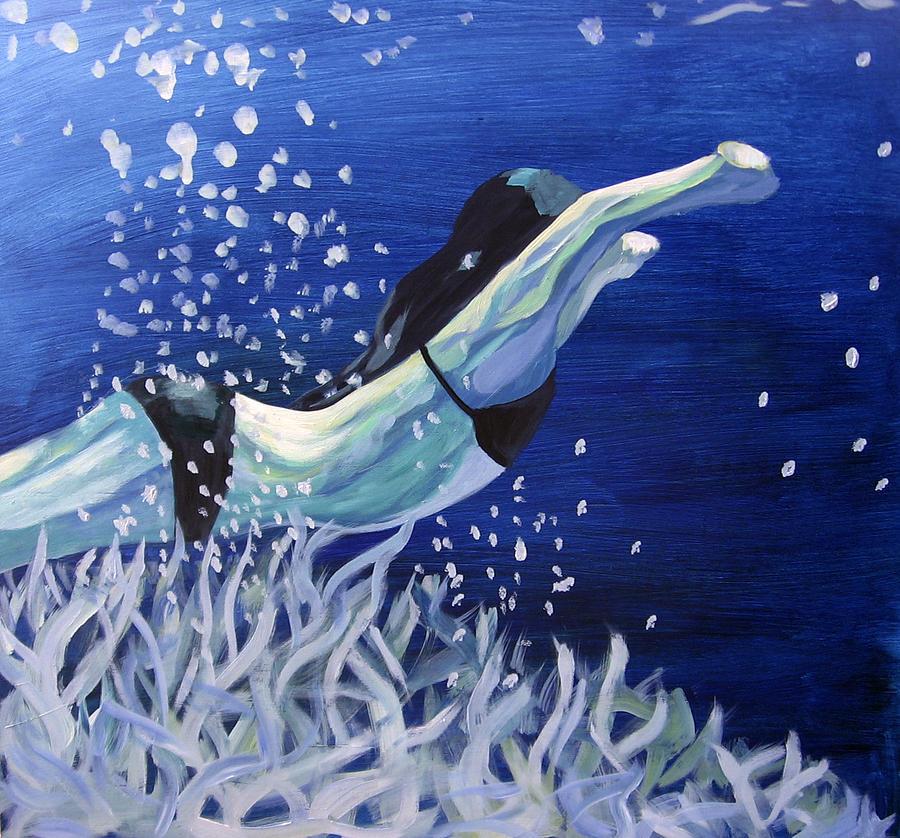 Swim Painting - Swim by Ingrid Torjesen