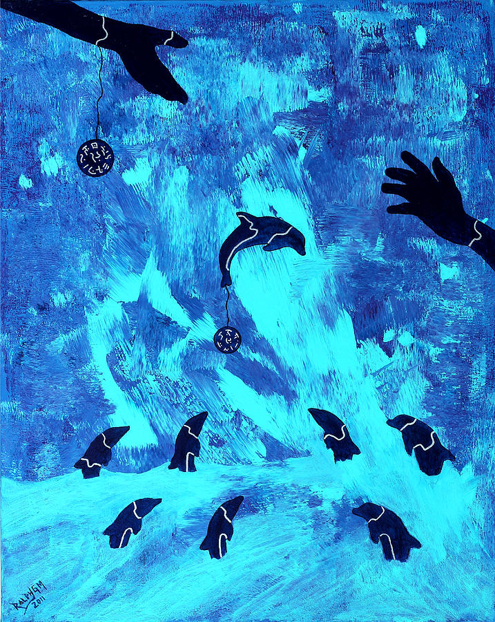 Blue Painting - Swim With Me 2011 by RalphGM