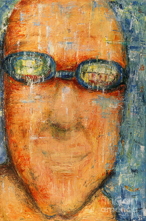 Goggle Painting - Swimmer - 2012 by Nalidsa Sukprasert