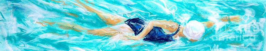 Swimmer Painting - Swimmer by Vanessa Montenegro