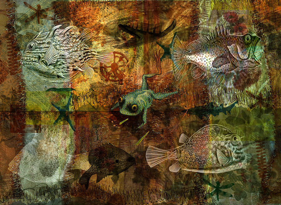 Sea Digital Art - Swimming Against The Tide by Sarah Vernon
