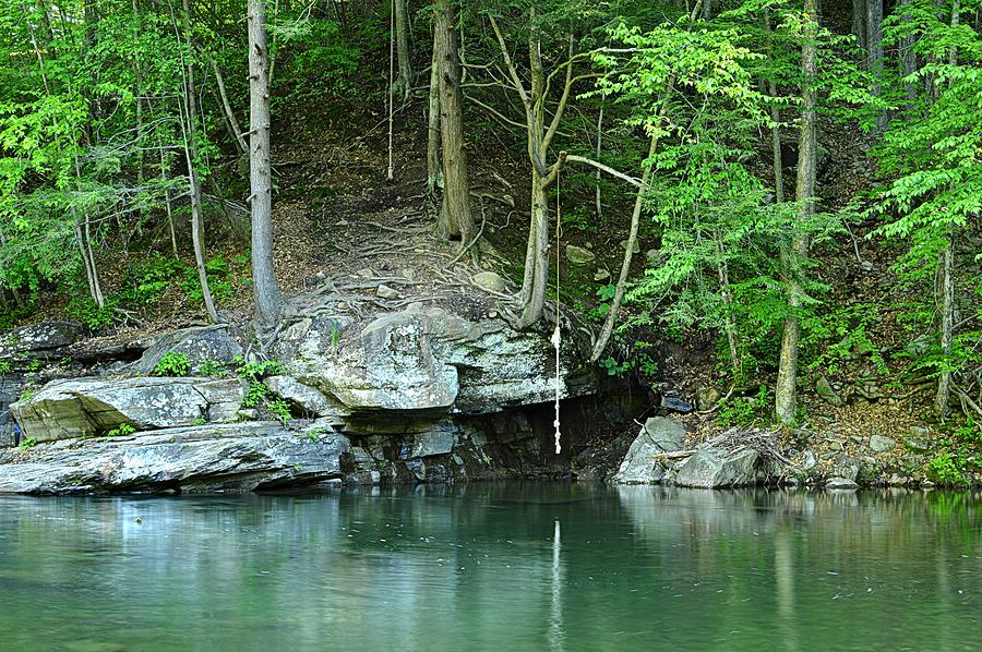 Swimming Hole At Rock Run by Joel E Blyler