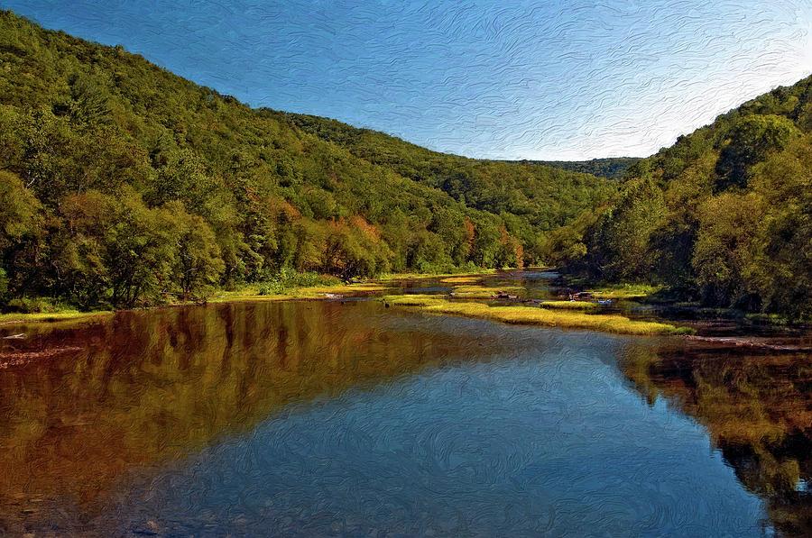 New River Photograph - Swimming Hole Impasto by Steve Harrington