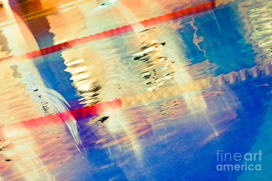 Abstract Photograph - Swimming Pool 01b - Abstract by Pete Edmunds