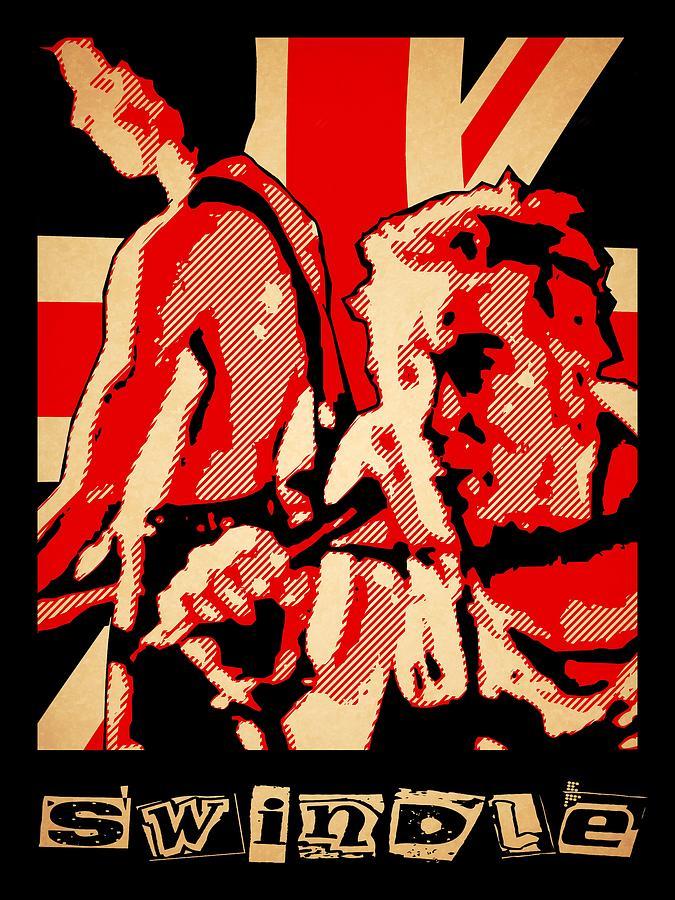 Punk Digital Art - Swindle by Lance Vaughn