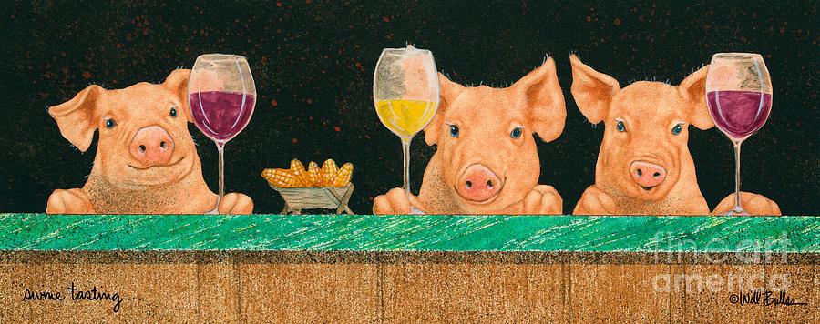 Will Bullas Painting - Swine Tasting... by Will Bullas
