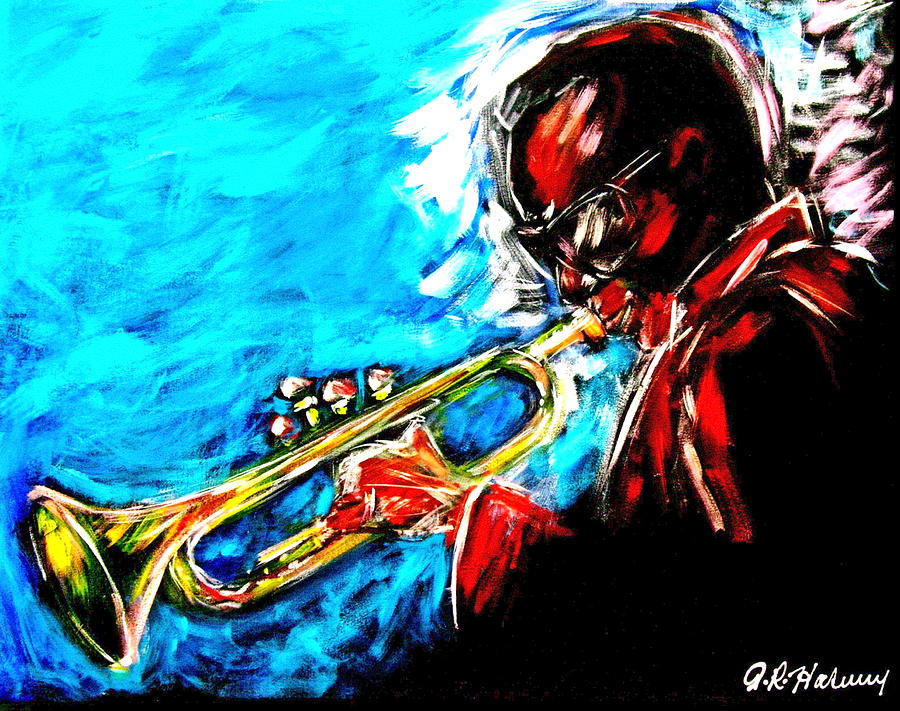 Trumpet Painting - Swing by Aaron Harvey