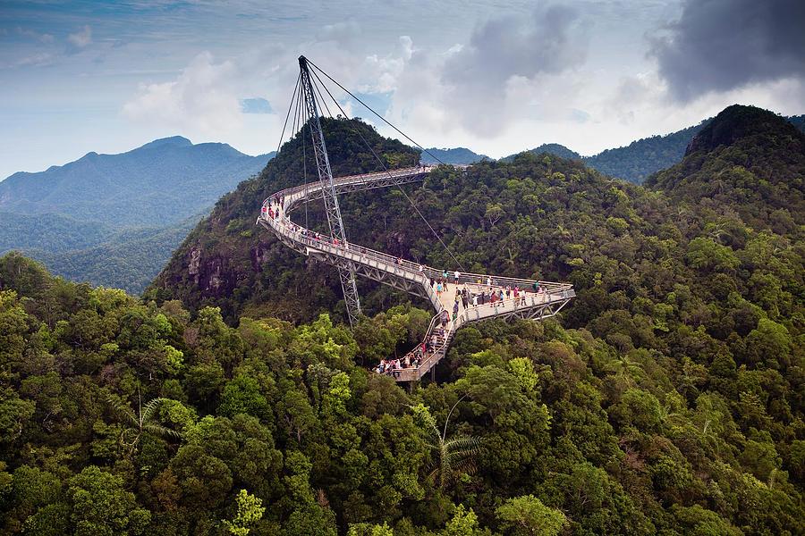 Swing Bridge Walk At Summit Of Langkawi Photograph by Richard Ianson
