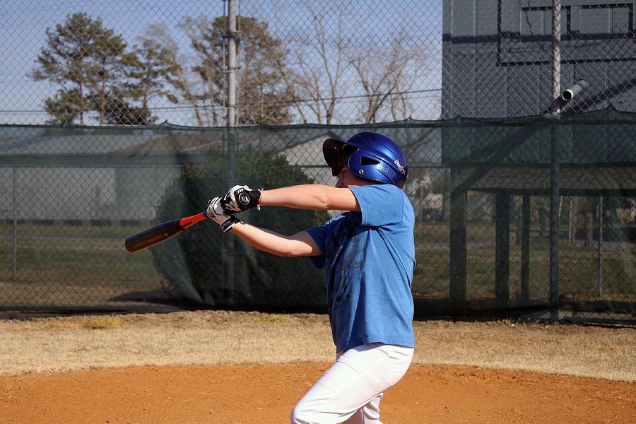 Sport Photograph - Swing That Bat by Carolyn Ricks
