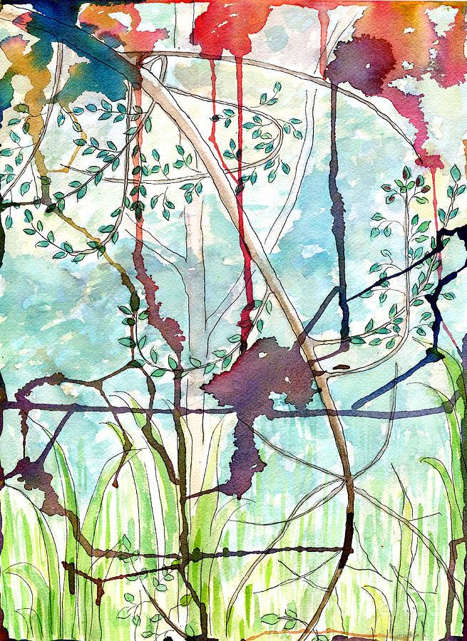 Swing Painting - Swing Uphill Abstract by Mukta Gupta
