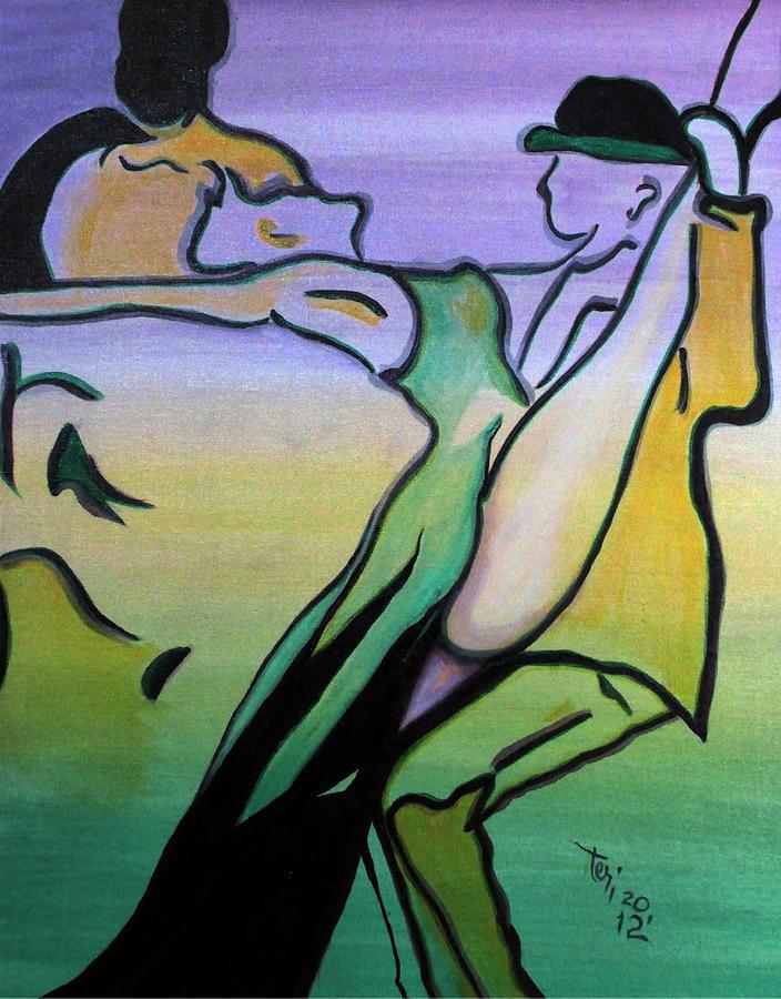 Abstract Painting - Swingin by Teri Howard Stewart