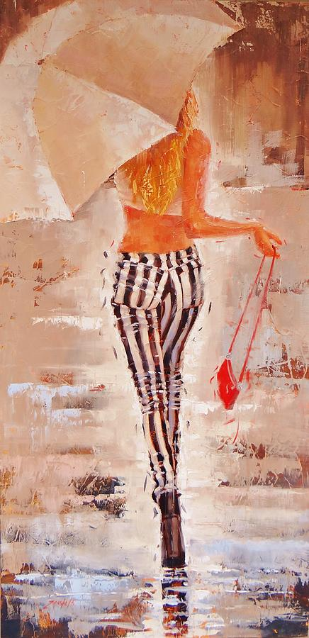 Beautiful Girl Painting - Swingin Two by Laura Lee Zanghetti