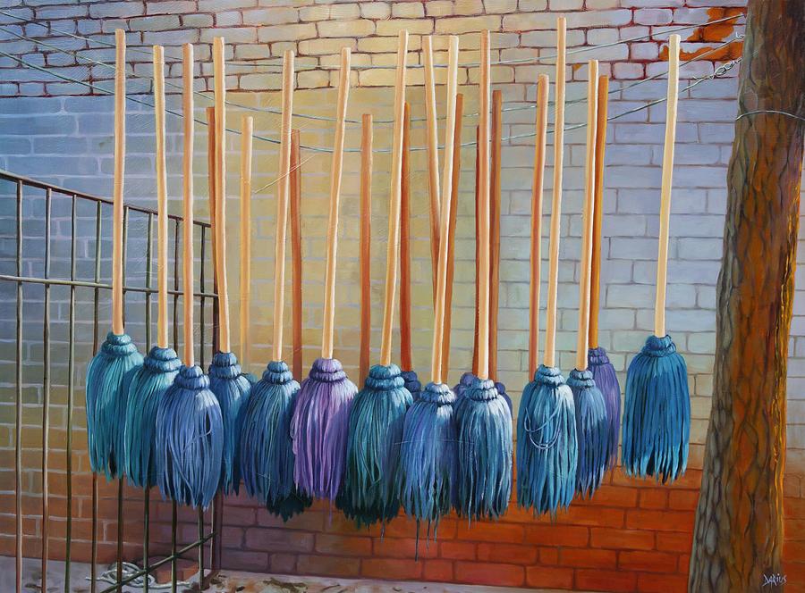 Landscape Painting - Swinging Blues by Sue  Darius