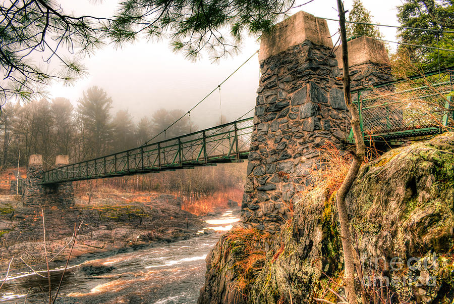 Swinging Bridge Photograph - Swinging Bridge Before The Storm by Ever-Curious Photography