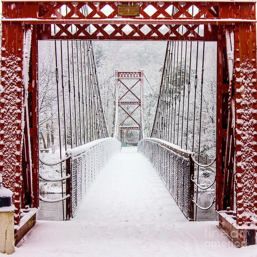 Androscoggin Photograph - Swinging Bridge by Benjamin Williamson