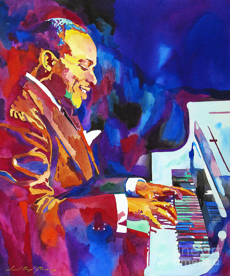 Count Basie Painting - Swinging with Count Basie by David Lloyd Glover