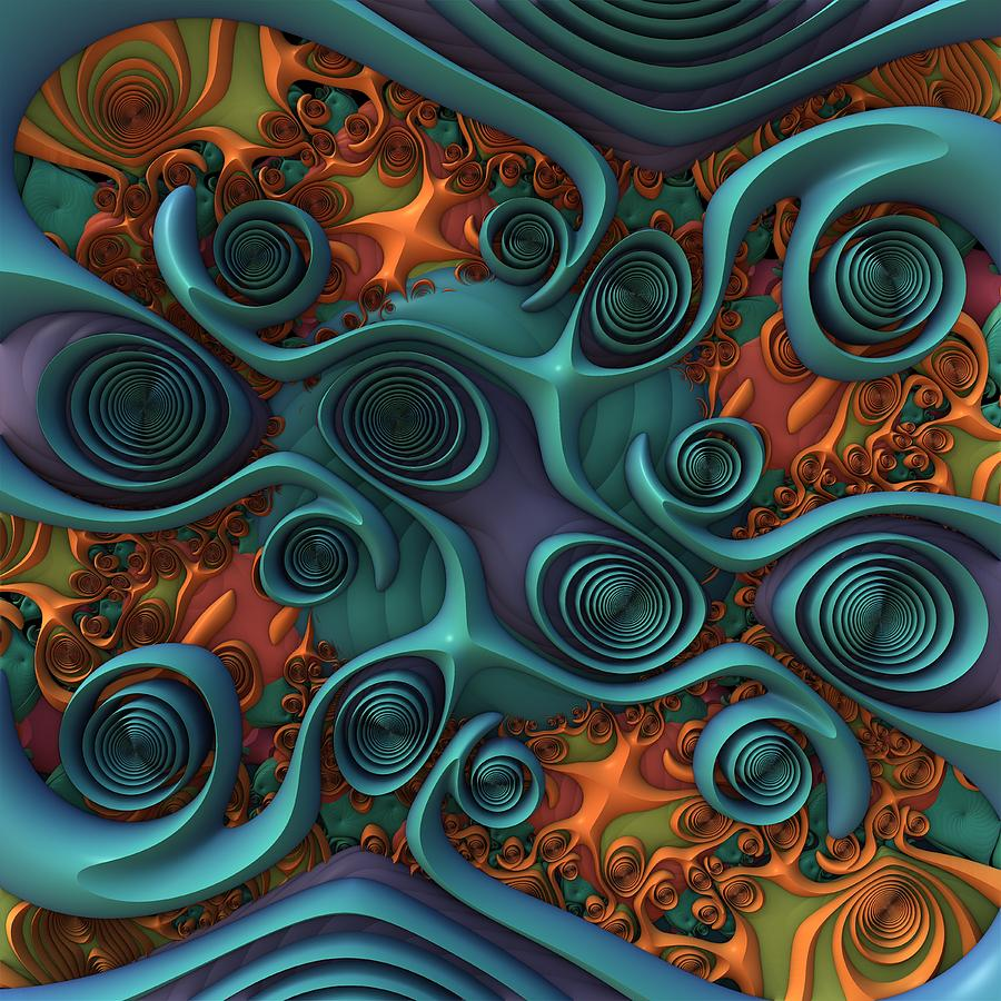 Swirl Digital Art - Swirl Central by Lyle Hatch