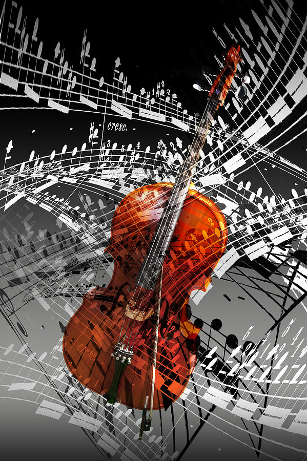 Cello Photograph - Swirl of Music by Randall Nyhof