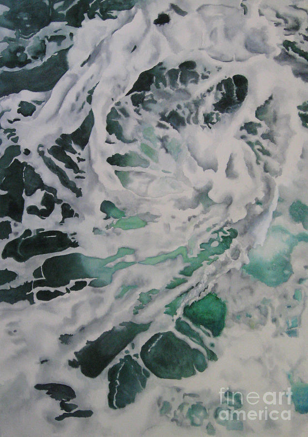 Seascape Painting - Swirl by Parrish Hirasaki