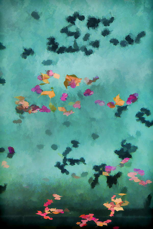Swimming Pool Photograph - Swirling Leaves And Petals 1 by Scott Campbell