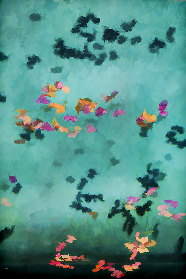 Swimming Pool Photograph - Swirling Leaves And Petals 5 by Scott Campbell