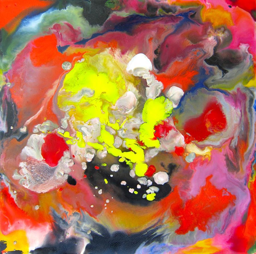 Encaustic Painting - Swirling by Marita McVeigh