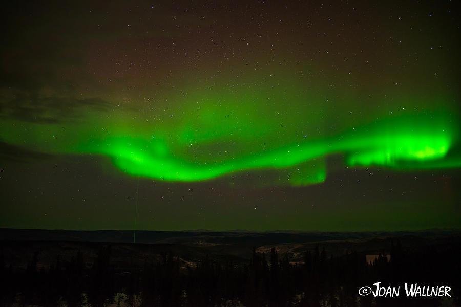 Alaska Photograph - Swirling Northern Lights by Joan Wallner