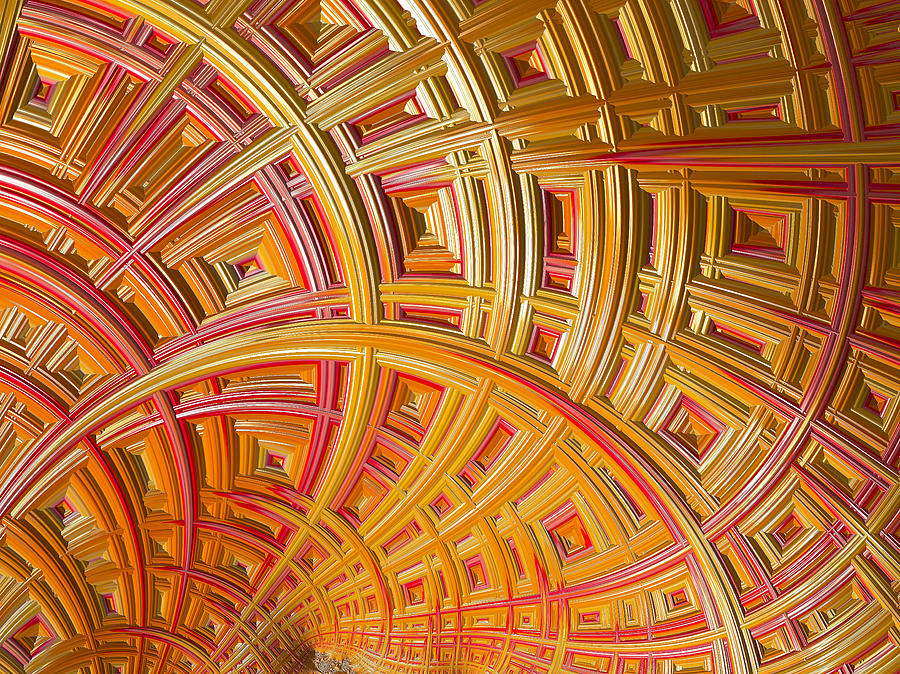 Frax Photograph - Swirling Rectangles by Sharon M Connolly