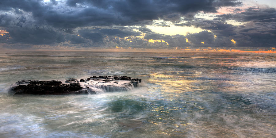 Beach Photograph - Swirling Seas by Peter Tellone