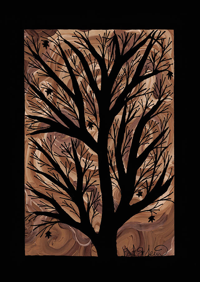 Acer Saccharum Painting - Swirling Sugar Maple by Barbara St Jean