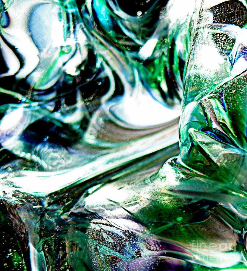Glass Artwork Photo Photograph - Swirls Of Color And Light II by Kitrina Arbuckle