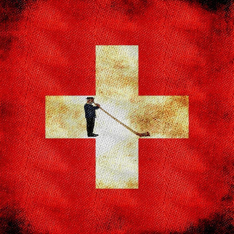Swiss Painting - Swiss Alpine by Jared Johnson