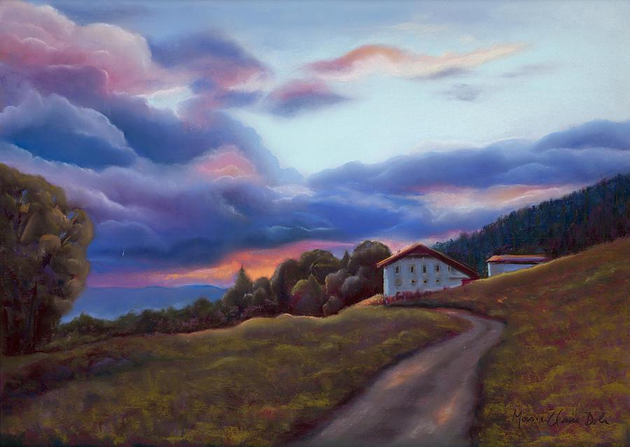 Clouds Pastel - Swiss Clouds - La Ferme des Endroits - La Chaux-de-Fonds by Marie-Claire Dole