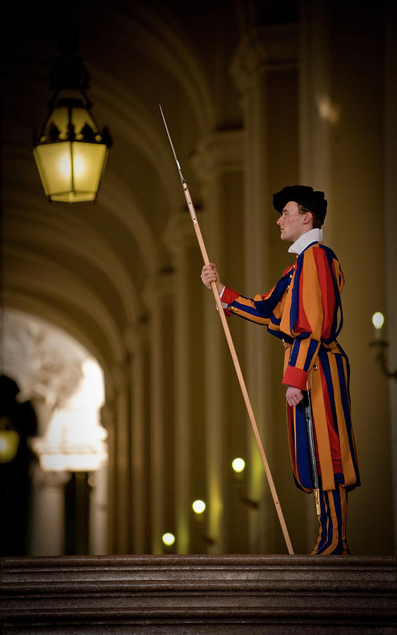 Swiss Guard In Uniform At St-peters Photograph by Guylain Doyle