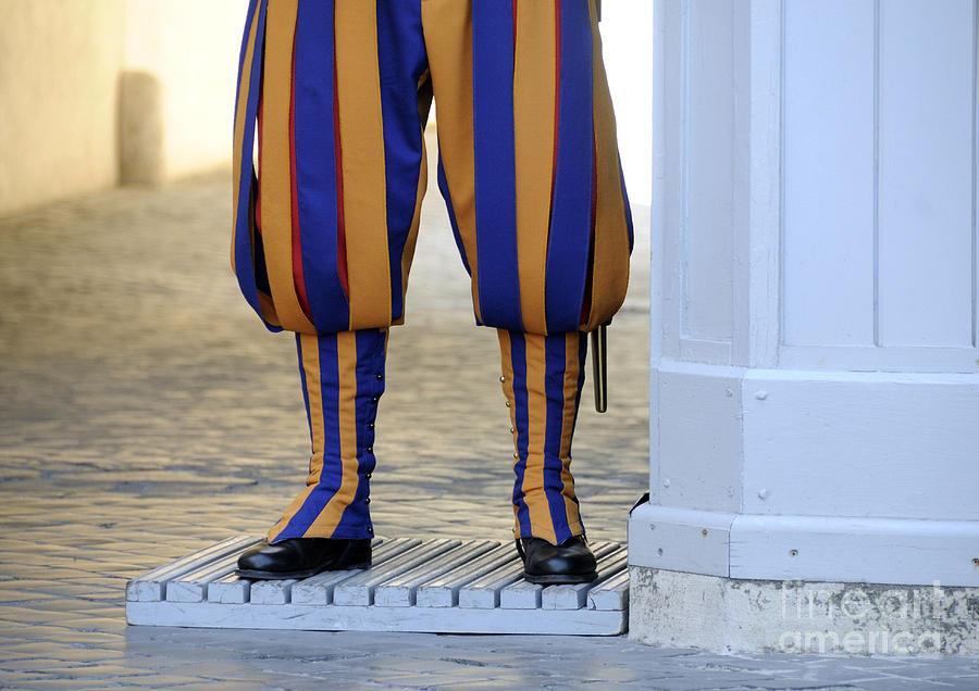 People Photograph - Swiss Guards. Vatican by Bernard Jaubert