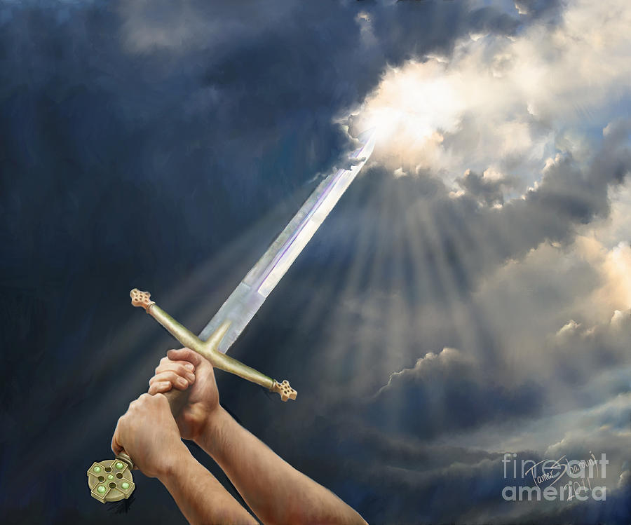Christian Digital Art - Sword Of The Spirit by Tamer and Cindy Elsharouni