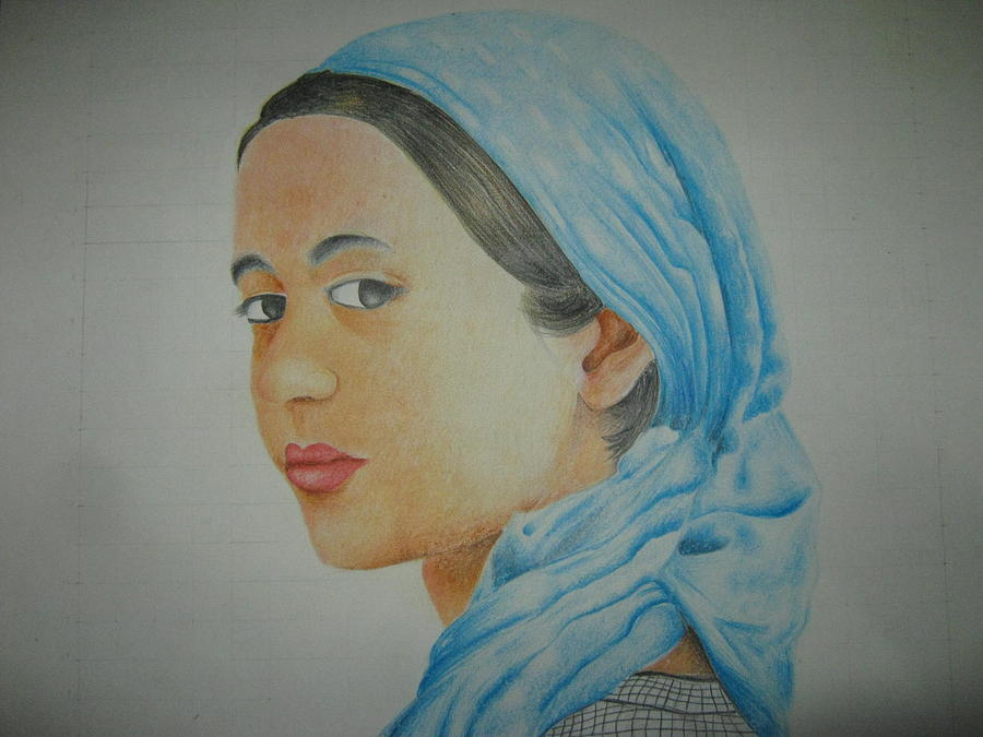 Portrait Drawing - Swt Girl by Vinayak Patukale