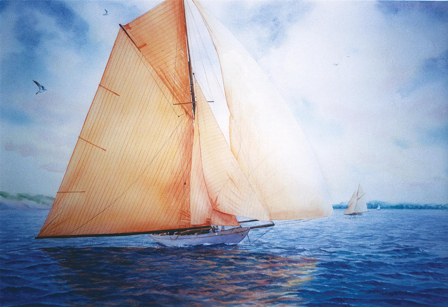 Sailboat Painting - Syce by Marguerite Chadwick-Juner