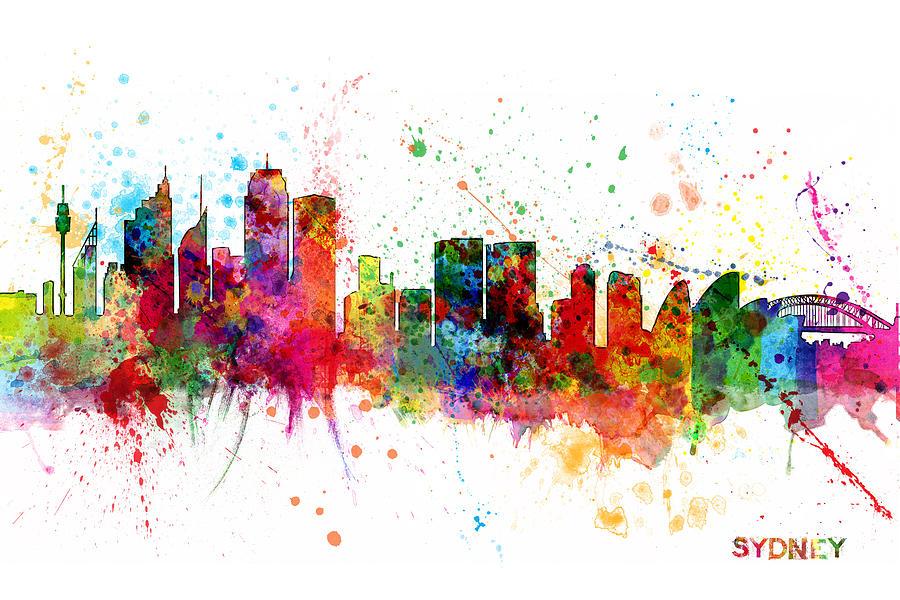 Sydney Australia Skyline Digital Art By Michael Tompsett