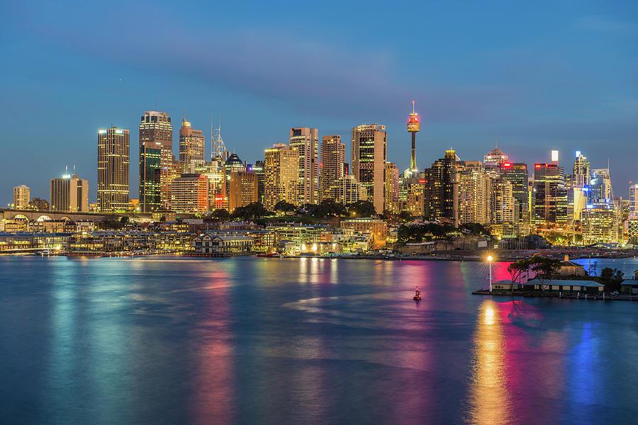 Sydney Blue Hour Photograph by Keith Mcinnes Photography