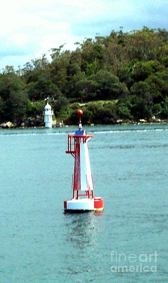 Sydney Photograph - Sydney Buoy And Lighthouse by John Potts