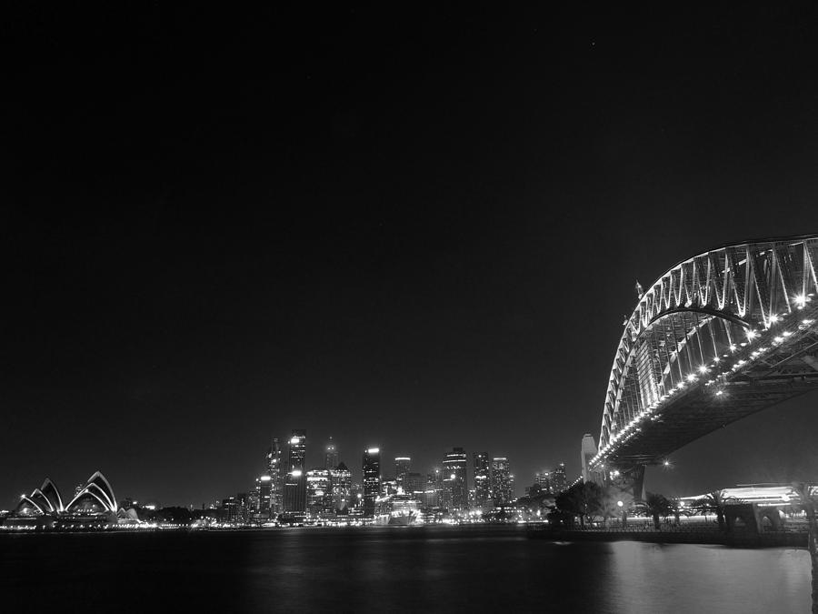 Print #007 Sydney Night Black and White