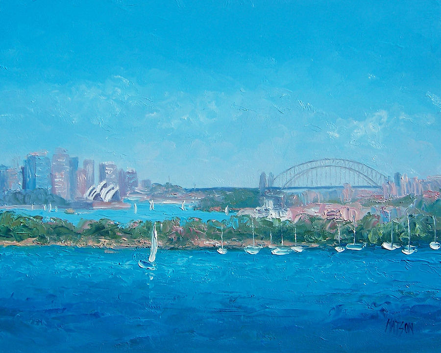 Sydney Harbour Painting - Sydney Harbour And The Opera House By Jan Matson by Jan Matson
