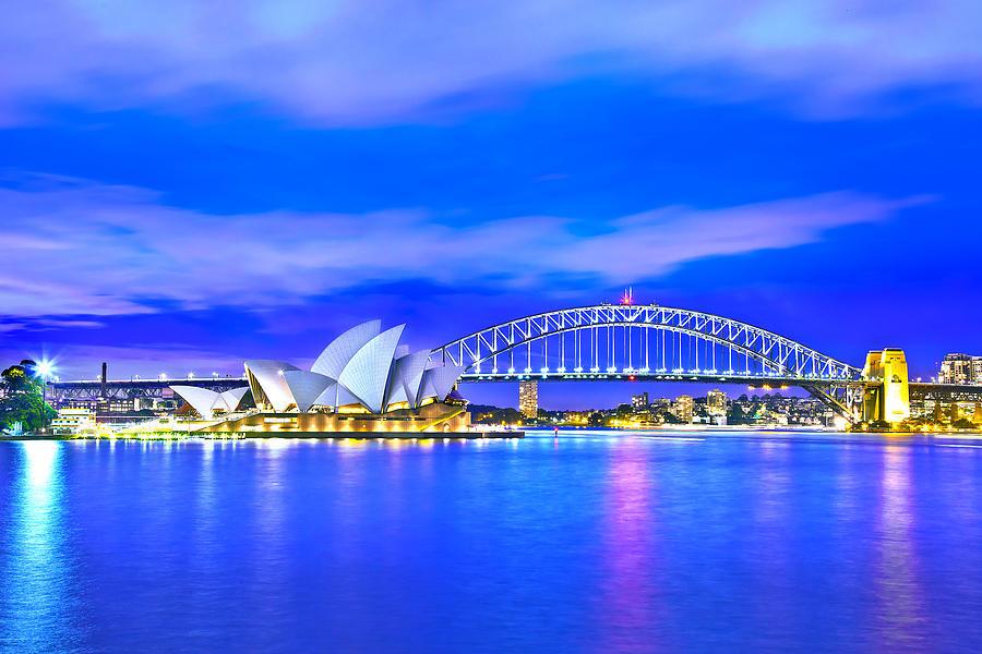 Sydney Photograph - Sydney Harbour Blues by Az Jackson