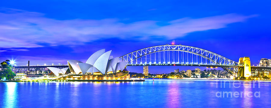 Sydney Harbour Blues Panorama Photograph